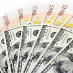 dollars en euro — Stockfoto