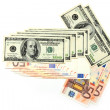 Royalty-Free Stock Photo: Dollars and euro