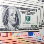 dolar ve euro — Stok fotoğraf #14915425
