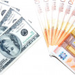 Dollars and euro — Stock Photo