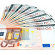Stock Photo: Dollars and euro