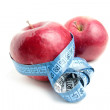 Red apple and metre — Stockfoto #18681841