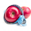 Stock Photo: Red apple and metre