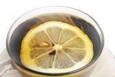 Tea and lemon — Stock Photo