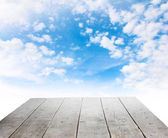 Wooden platform — Stock Photo
