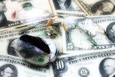 Glasögon dollar klocka — Stockfoto
