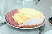 Salsicha e queijo — Foto Stock