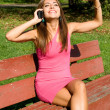 Girl talking by phone — Stock Photo #13664067