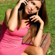 Stock Photo: Girl talking by phone