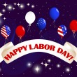 Stock Vector: Labor Day banner.
