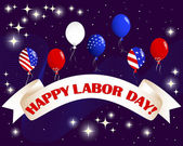 Labor Day banner. — Stock Vector