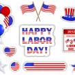 Labor day stickers. — Image vectorielle