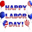Labor Day card. — Stock Vector #12400144
