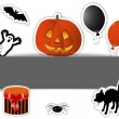 Halloween stickers. — Stock Vector