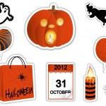 Halloween stickers. — Stock Vector