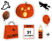 Halloween stickers. — Vector de stock