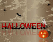 Halloween background. — 图库矢量图片