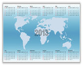 Calendar 2013 on banners with map. — Stock Vector