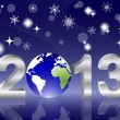 3d 2013 New Year — Stock Vector