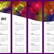 Stock Vector: Calendar 2013 on vertical banners.