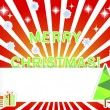 Christmas background with empty banner and stickers. — Stock Vector #16798275