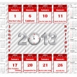 Calendar 2013 with holiday calendar icon. — Stock Vector #17386007
