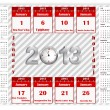 Calendar 2013 with holiday calendar icon. — Stock Vector