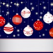 Christmas and new year banner. — Stock Vector