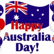 Australia Day background with Australia flag balloons. — Stock Vector