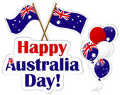 Australia Day stickers. — Stock Vector