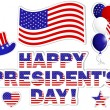 President's Day stickers. — Stockvectorbeeld