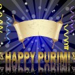 Purim background with Torah scroll. — Vettoriali Stock