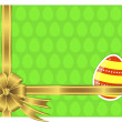 Easter card with a sticker egg. — Stock Vector