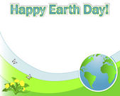 Earth Day banner with the globe. — Stock Vector