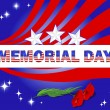 Memorial Day. Banner and red poppies. — Vector de stock #24420461