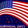 Memorial Day. American flag and beautiful text. — Stock vektor