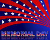 Memorial Day. Beautiful text with the pattern of the American fl — Stockvector