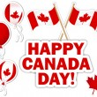 Canada Day stickers. — Stock Vector #25182795