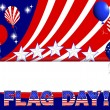 Stock Vector: Flag day background.