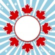 Canada Day banner. — Stock Vector