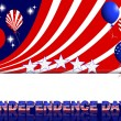 Independence Day background. — Stock Vector