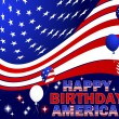 Happy Birthday America. — Stock Vector