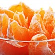 Slices of fresh mandarin — Stok fotoğraf