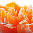 Slices of fresh mandarin - Stockfoto