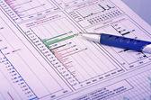 Resumo do relatório financeiro — Foto Stock