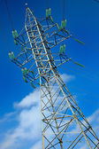High voltage electric pole — Stock Photo