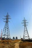 Elektrický sloup vysokého napětí — Stock fotografie