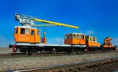Grúa locomotora ferroviaria — Foto de Stock