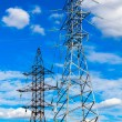 Stock Photo: High voltage power pylon