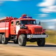 Stock Photo: Red fire truck